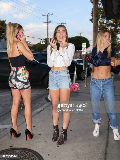 Cambrie Schroder and Faith Anne Schroder are seen on June 14 2018 in Los Angeles California