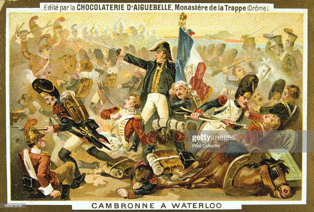 'Cambronne at the Battle of Waterloo', 18 June, 1815, (19th century). Artist: Anon : News Photo