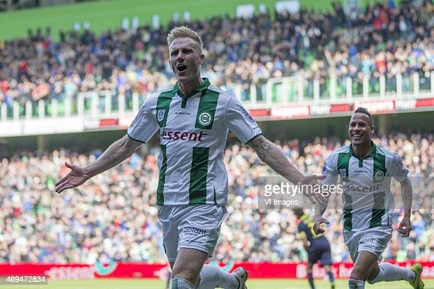 Cambuur Nick van der Velden of FC Groningen during the Dutch Eredivisie match between FC Groningen and Cambuur Leeuwarden at Euroborg on April 12...