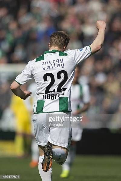 Cambuur Simon Tibbling of FC Groningen during the Dutch Eredivisie match between FC Groningen and Cambuur Leeuwarden at Euroborg on April 12 2015 in...