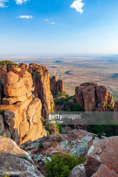 Camdeboo National Park a wilderness area with unusual rock formations outside of GraaffReinet in South Africa