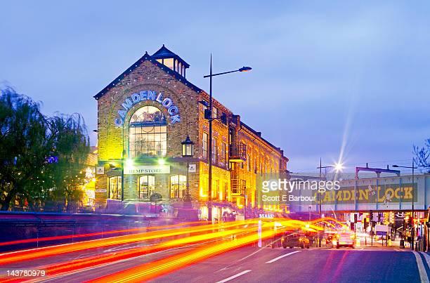Camden Bridge and Camden Lock Market. Camden Town