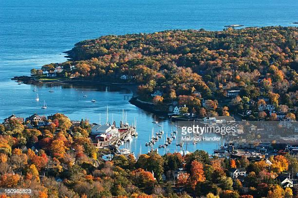 Camden Harbor from Camden Hill State Park, Maine.