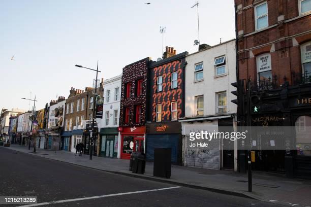 Camden High Street Shops on March 27 2020 in Camden Town London England British Prime Minister Boris Johnson announced strict lockdown measures...