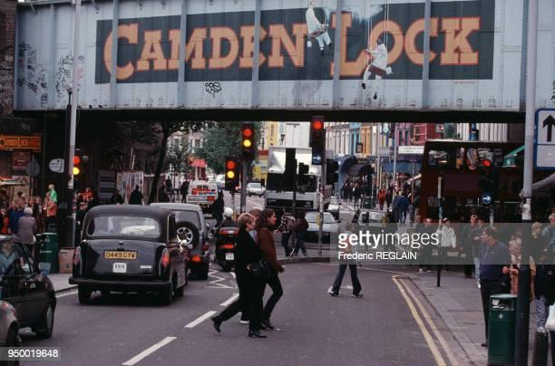 Camden Lock à Londres, en octobre 1998, Royaume-Uni.