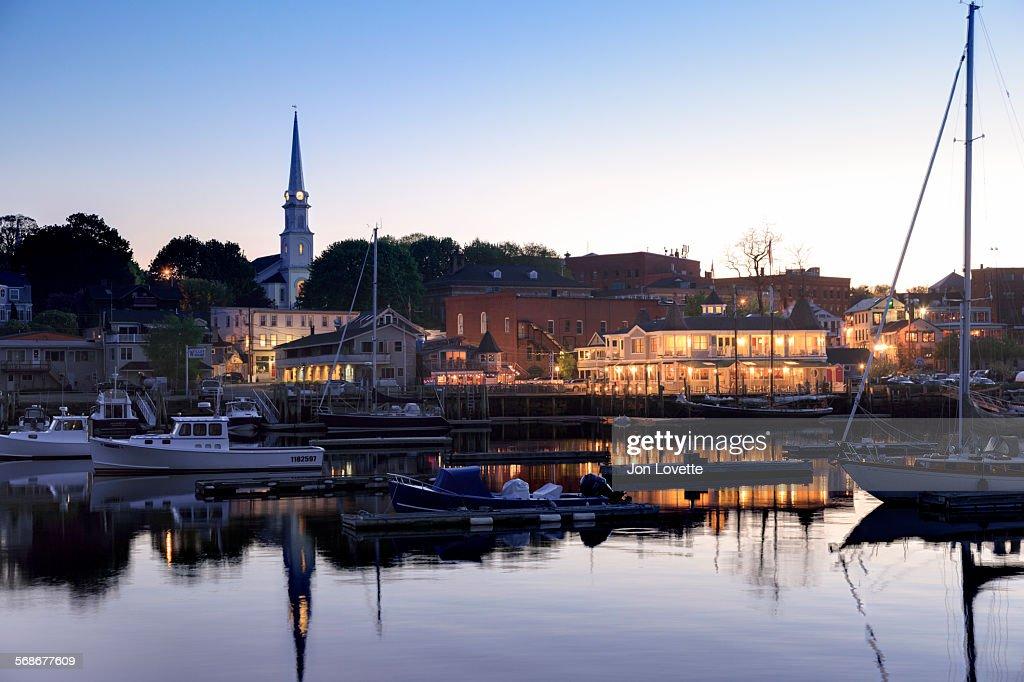 Camden Maine Harbor : Foto de stock