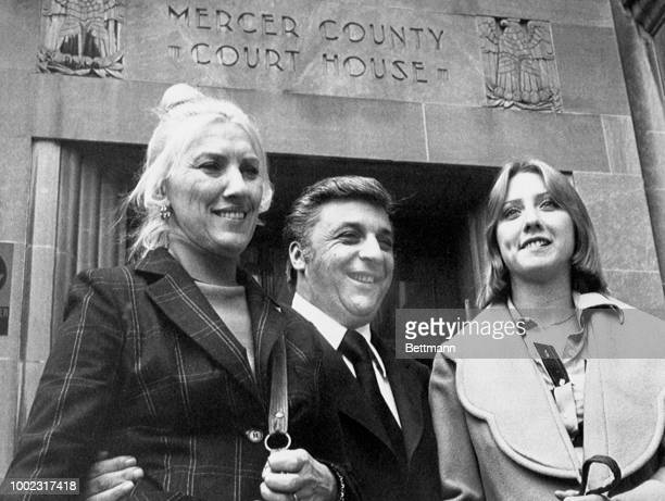 Camden NJ mayor Angelo Errichetti his wife Dolores and daughter Michelle leave Mercer County Courthouse while a jury considered Errichetti's case