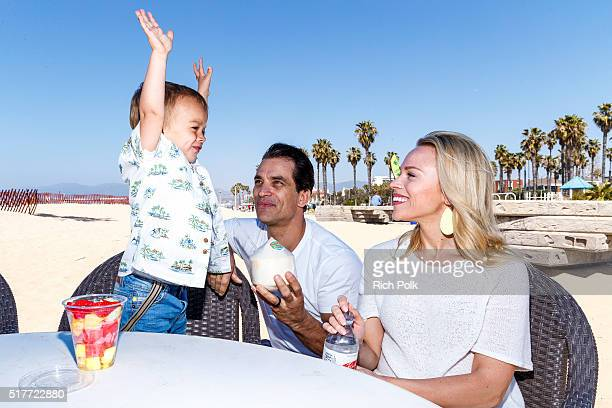 Camden Quinn Schaech actor Johnathon Schaech and Julie Solomon spend the day at the beach on March 26 2016 in Santa Monica California