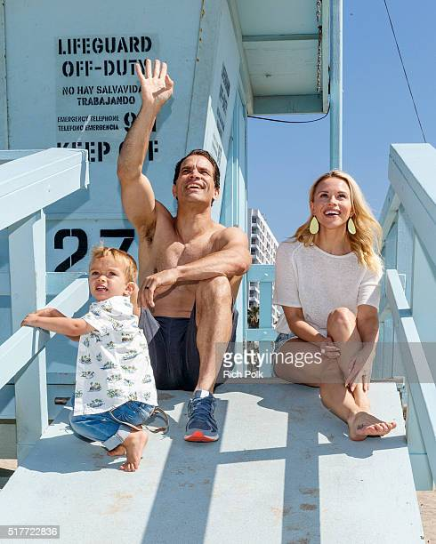 Camden Quinn Schaech actor Johnathon Schaech and wife Julie Solomon spend the day at the beach on March 26 2016 in Santa Monica California