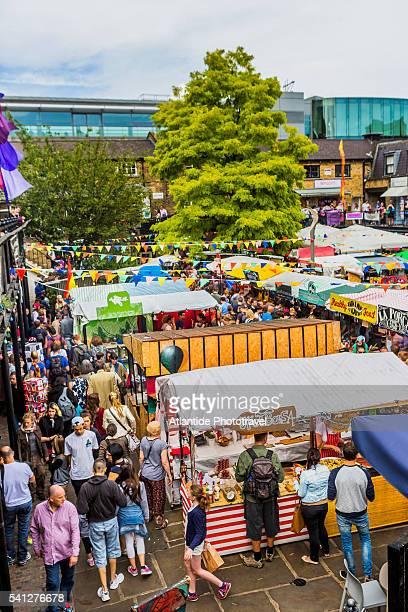 Camden Town, Camden Lock Market. food stalls