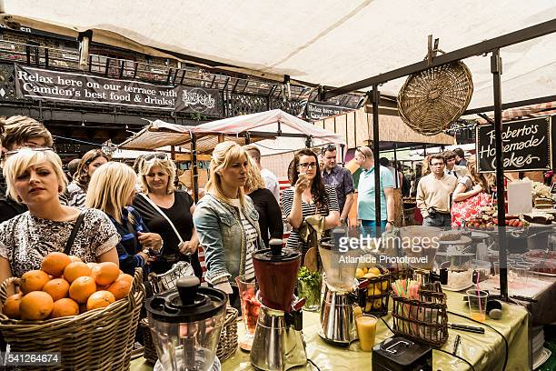 Camden Town, food stalls near Camden Lock Market