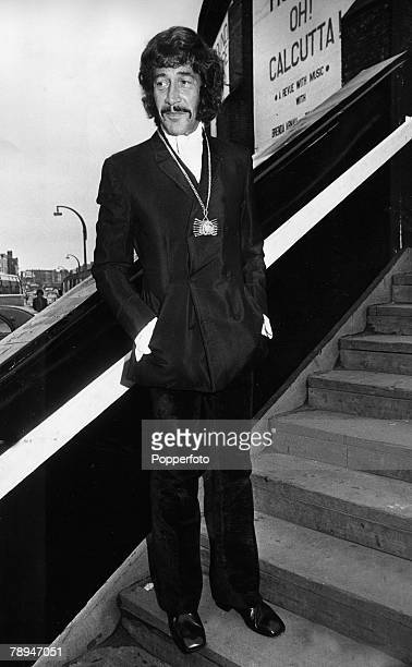 Camden Town London 27th July 1970 British actor Peter Wyngarde attends the first night of 'Oh Calcutta' at the Round House theatre