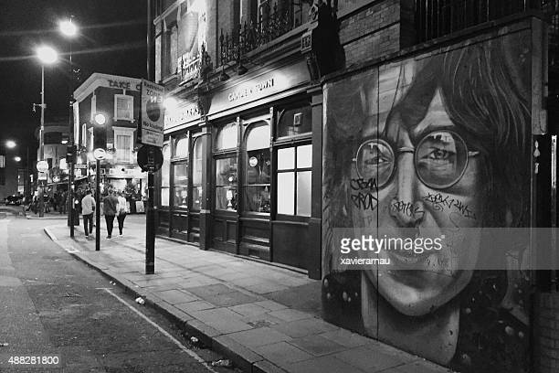 camden town - john lennon stock pictures, royalty-free photos & images