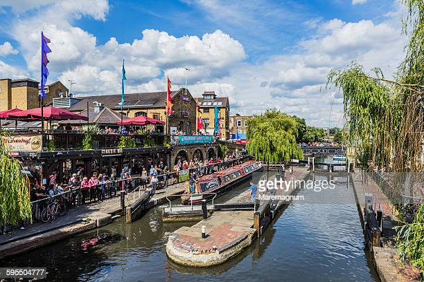 camden town, view of camden lock - camden london stock pictures, royalty-free photos & images