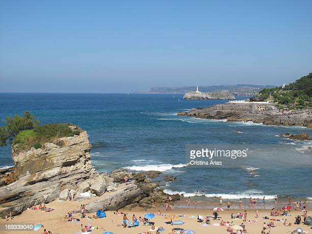 Camel beach next to the Peninsula de la Magdalena in Santander Cantabria Spain