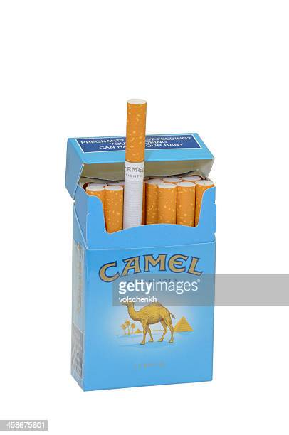 camel cigarettes isolated - cigarette pack stock pictures, royalty-free photos & images
