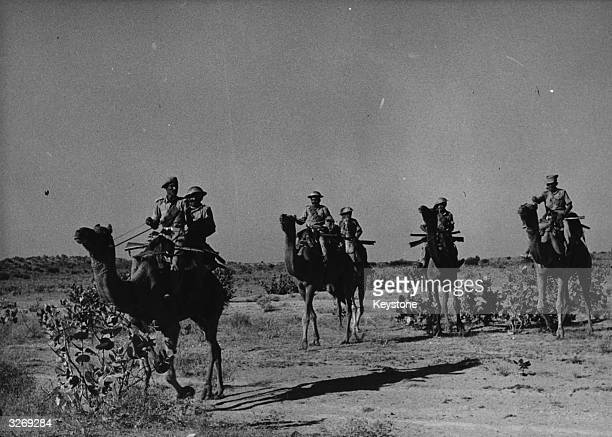 Camel Corps of the Rajasthan Armed Constabulary patrolling border areas of the Rajasthan sector during the IndiaPakistaned8 conflict