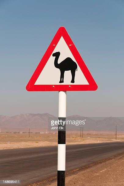 Camel crossing sign.