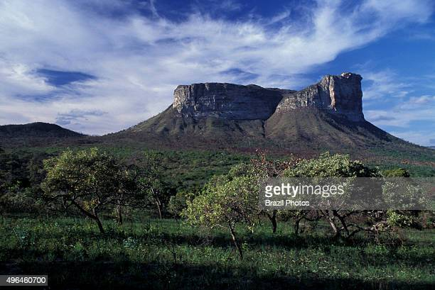Camel Mountain at Chapada Diamantina in Bahia State Brazil Chapada Diamantina is an erosional landform a natural feature of the earth's surface The...
