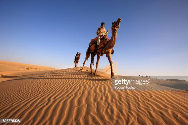 A camel rider during the Desert Festival The desert festival in Jaisalmer was started to attract foreign tourists who always wanted to explore as...