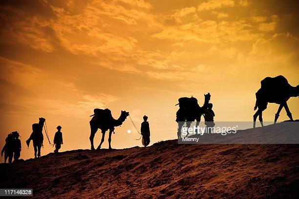 kamelsafari in der wüste - camel active stock-fotos und bilder