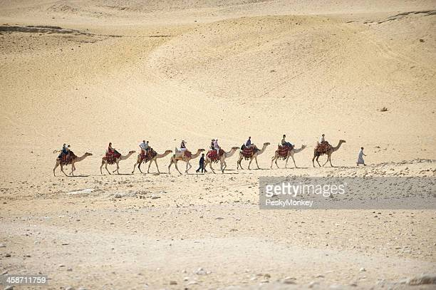 キャメルの列車はその向こう側の砂漠