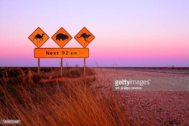 camel wombat kangaroo sign