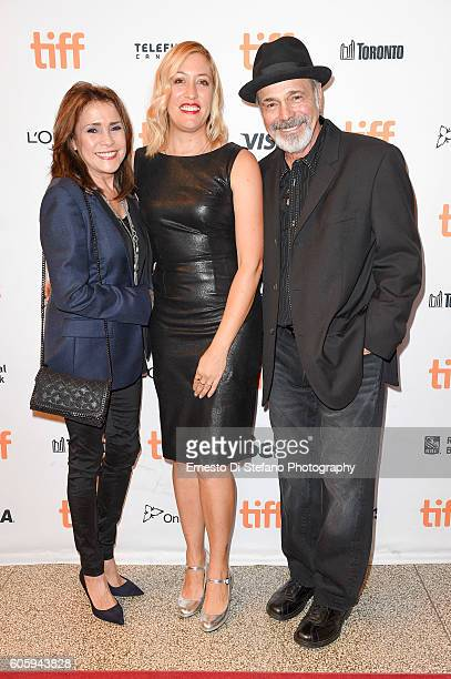 Camelia Gath Michelle Gath Sinclair and Danny Seraphine attend the ''Terry Gath Experience' premiere during the 2016 Toronto International Film...
