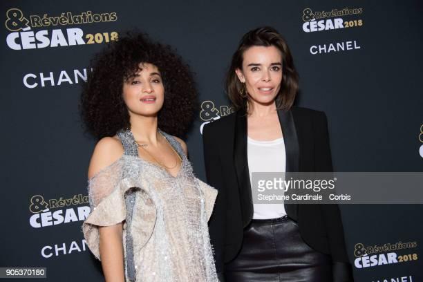 Camelia Jordana and Elodie Bouchez attend the 'Cesar Revelations 2018' Party at Le Petit Palais on January 15 2018 in Paris France