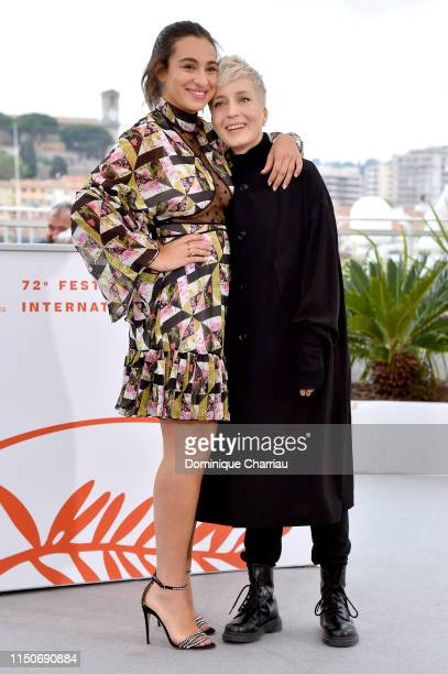 Camelia Jordana and Jeanne Added attend the photocall for Haut Les Filles during the 72nd annual Cannes Film Festival on May 21 2019 in Cannes France
