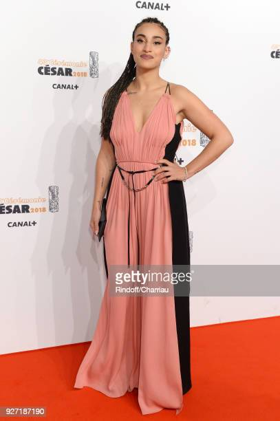 Camelia Jordana arrives at the Cesar Film Awards 2018 At Salle Pleyel on March 2 2018 in Paris France