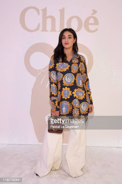 Camelia Jordana attends the Chloe show as part of the Paris Fashion Week Womenswear Fall/Winter 2019/2020 on February 28 2019 in Paris France