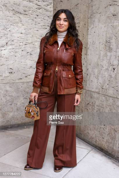 Camelia Jordana attends the Chloe Womenswear Spring/Summer 2021 show as part of Paris Fashion Week on October 01, 2020 in Paris, France.