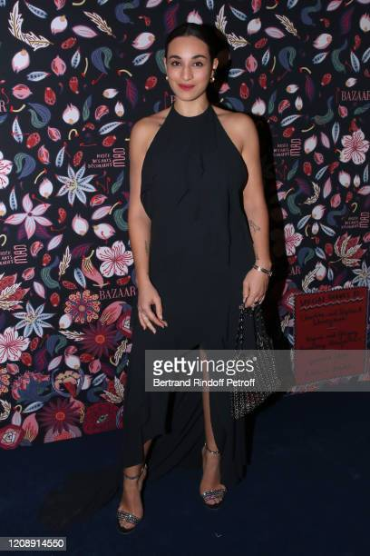Camelia Jordana attends the Harper's Bazaar Exhibition as part of the Paris Fashion Week Womenswear Fall/Winter 2020/2021 At Musee Des Arts...