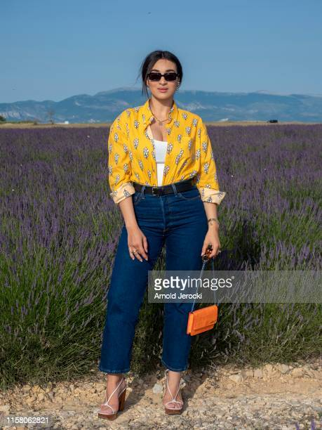 Camelia Jordana attends the Jacquemus Spring Summer 2020 show on June 24, 2019 in Valensole, France.