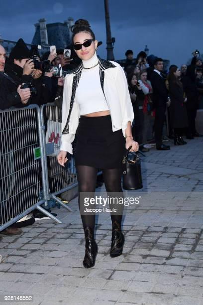 Camelia Jordana attends the Louis Vuitton show as part of the Paris Fashion Week Womenswear Fall/Winter 2018/2019 on March 6 2018 in Paris France