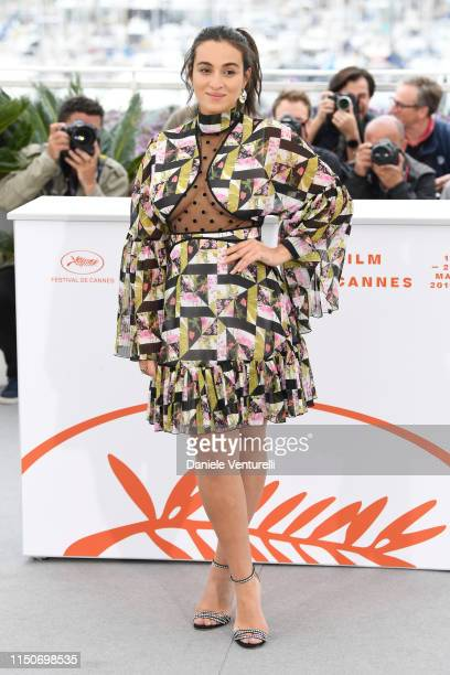 Camelia Jordana attends the photocall for Haut Les Filles during the 72nd annual Cannes Film Festival on May 21 2019 in Cannes France