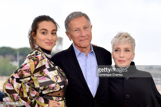Camelia Jordana Francois Armanet and Jeanne Added attend the photocall for Haut Les Filles during the 72nd annual Cannes Film Festival on May 21 2019...