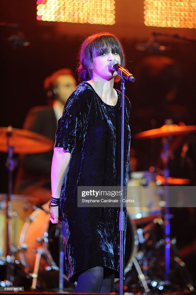 Camelia Jordana performs live during the celebration of Prix Constantin 2010 at L'Olympia, in Paris