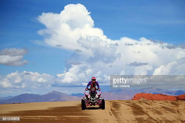 Camelia Liparoti of France and Yamaha HFP rides a YFM 700R Yamaha quad bike in the Classe 4 x 2 0 a 750 cm3 during stage four of the 2017 Dakar Rally...