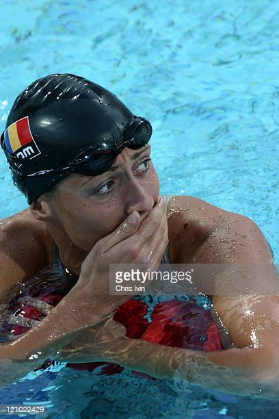 Camelia Potec of Romania wins the Women's 200m Freestyle event in a time of 15803 at the Women's 200m Freestyle Final in the Olympic Aquatic Centre...