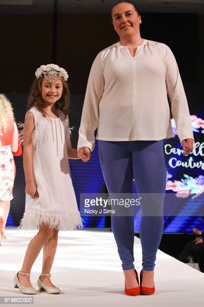 Camellia Couture at the House of iKons show during London Fashion Week February 2018 at Millenium Gloucester London Hotel on February 17 2018 in...