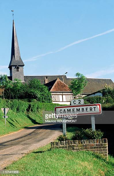 Camembert village in Normandy France in 1997