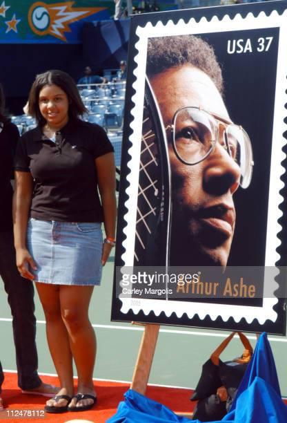 Camera Ashe during 2004 US Open Arthur Ashe Kids' Day at Arthur Ashe Tennis Stadium in New York City New York United States