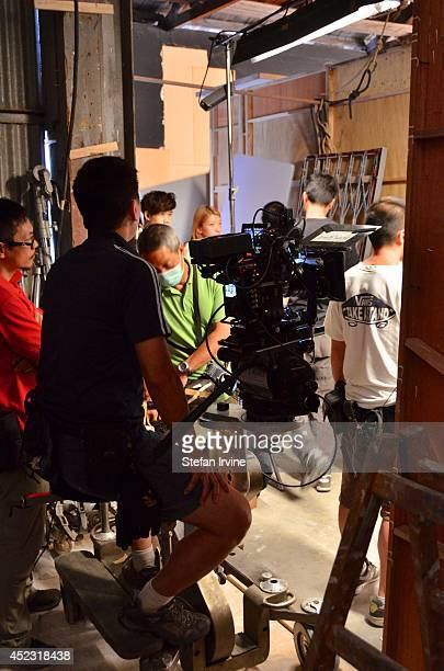 Camera crew on the Hong Kong film set of Rigor Mortis a horror film about vampires The film is Mak's directorial debut and is released in Hong Kong...