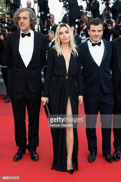 Camera d'or jury members Fabien Gaffez Elodie Bouchez and Patrick Blossie attend the Closing Ceremony of the 70th annual Cannes Film Festival at...