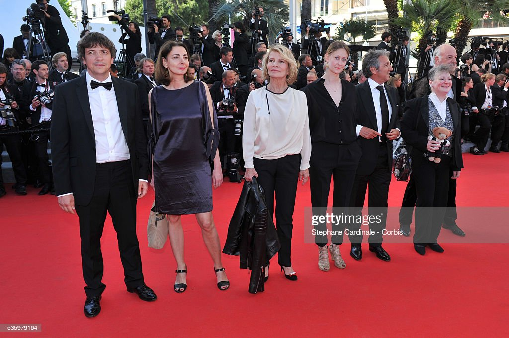 Camera d'Or jury members Van Leeuw, Lisa Nesselson, Richard Anconina, Helena Klotz, Nicole Garcia, Sophie Grassin and Gilles Gaillard at the Closing ceremony and 'A Fistful of Dollars' screening during 67th Cannes Film Festival