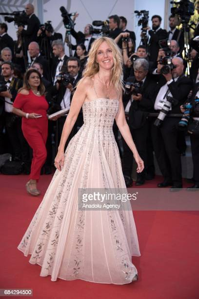 Camera d'or president of the jury Sandrine Kiberlain arrives for the screening of the film 'Les Fantomes dIsmael' out of competition and the Opening...