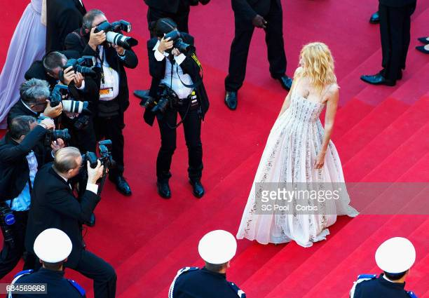 Camera d'or president of the jury Sandrine Kiberlain attends the 'Ismael's Ghosts ' screening and Opening Gala during the 70th annual Cannes Film...