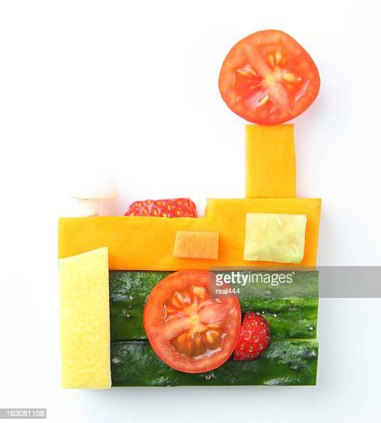 カメラの野菜と果物のスタイル